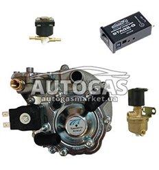 Комплект 2-го поколения, ред. AT07 MOD 100 л.с. (до 70 кВт), ЭМК газа и бензина Tomasetto, перекл. STAG 2G