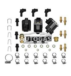 Форсунки STAG W03 3 цил., с жиклерами D1,5 мм и штуцерами в коллектор
