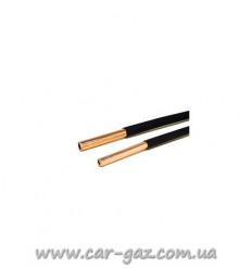 Трубка алюмінієва D 8х1mm в пластик. оплетке, (пропан), (протівоуд.) Італія, 1м