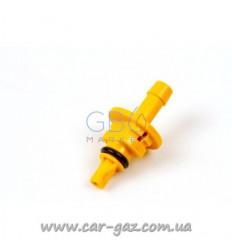 Штуцер калібрувальний до форсунок AEB Plastic D1,8 мм, YELLOW для рукава буд.6 (50 шт. В упаковці)