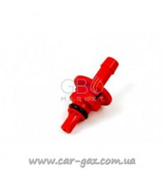 Штуцер калібрувальний до форсунок AEB Plastic D1,6 мм, RED для рукава буд.6 (50 шт. В упаковці)