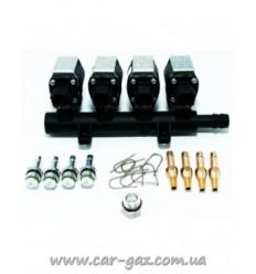 Форсунки Alfatronic Classic (IG5), 4 цил., 2 Ohm, (c калибров. штуц.D1,5мм и штуц. в коллектор)