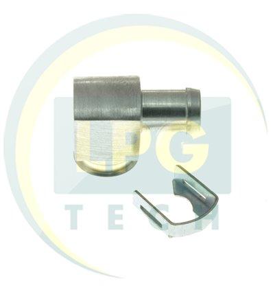 Монтажно-распред. рейка 1 цил. ал. тупиковая d12 (GZ-910 A)
