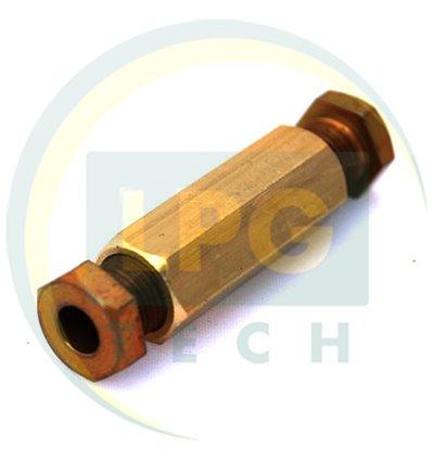 Переходник соединитель тр-ки медь 6/6 (ZL-0001) (GZ-230)