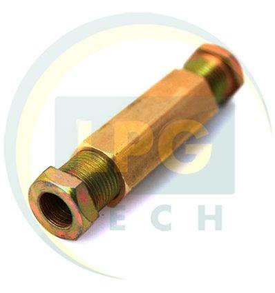 Переходник соединитель тр-ки медь 6/8 (ZL-0002) (GZ-230 B)