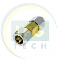 Переходник соединитель тр-ки PCV 6/8 (ZL-0045) (GZ-2314)