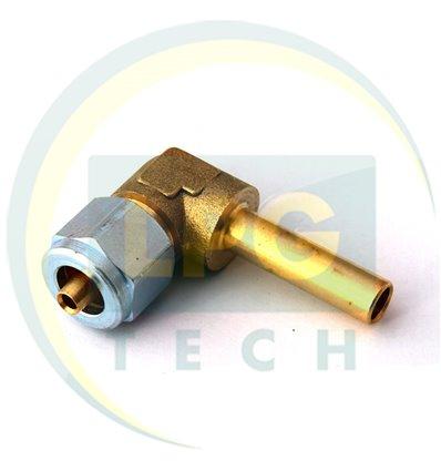 """Штуцер трубки d-8 мм """"Faro"""" 90* (ZL-0026) (GZ-1313)"""