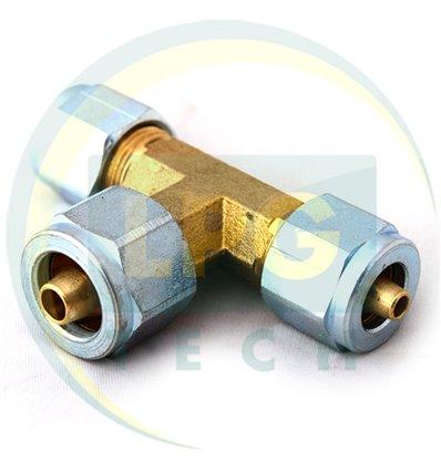 Тройник Т образный для трубки PCV 6х6х6 (TR-0025) (GZ-2350)