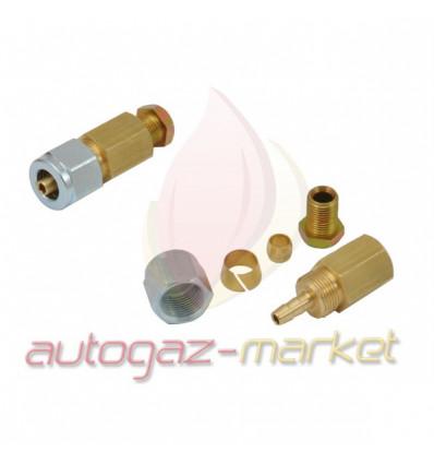 Переходник соединитель тр-ки PCV/медь 6/6 (ZL0050) (GZ-2392 A)