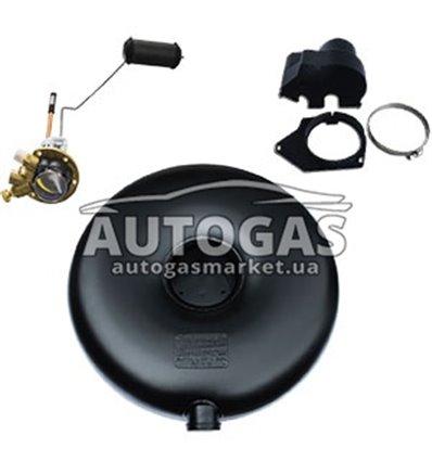Комплект Баллон тороидальный пропан-бутан наружный полнотелый H270 mm, D720 mm, 93 л, GREENGAS+мульт+протектор