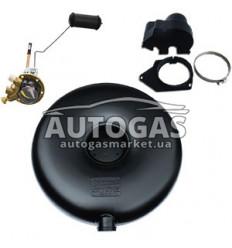 Комплект Баллон тороидальный пропан-бутан наружный H220 mm, D650 mm, 59 л, GREENGAS+мульт+протектор