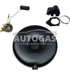 Комплект Баллон тороидальный пропан-бутан наружный H270 mm, D650 mm, 72 л, GREENGAS+мульт+протектор