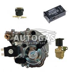 Комплект 2-го поколения, ред. AT07 MOD 100 л.с. (до 70 кВт), ЭМК газа и бензина Tomasetto, перекл. STAG 2G, м.AT02 200-30 с кату