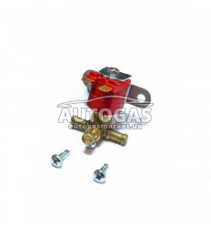 Электромагнитный клапан бензина ROYALGAS, вход D6/8 мм, выход D6/8 мм, (металл. штуцер)