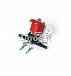 Электромагнитный клапан бензина ROYALGAS, вход D6/8 мм, выход D6/8 мм, (пластик. штуцер)