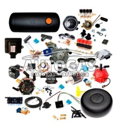 Комплект 4ц. STAG- 4 QBOX BASIC, ред.Stag R02 120 л.с. (88 кВт), форс. Hana 2001 Rail Type C (Черные 20-30 Нр), фильтр