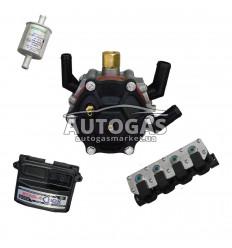 Комплект 4ц. STAG- 4 QBOX BASIC, ред. STAG R02 120 л.с. (до 80 кВт), форс. STAG W02 (черные), ф. 11/11