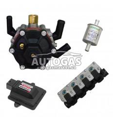 Комплект 4ц. STAG- 4 GoFast , ред. STAG R02 120 л.с. (до 80 кВт), форс. STAG W-02 4 цил. жиклер D1,5, ф. 11/11