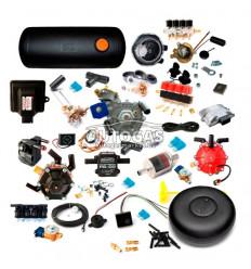 Комплект 8ц. STAG-300 QMAX BASIC, ред.Stag R01 до 250 л.с. (185 кВт), форс. STAG W-03 4 цил. жиклер D1,5, фильтр